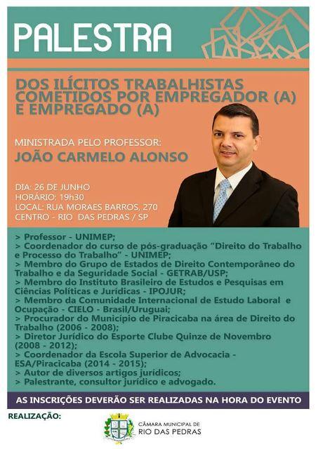 Palestra - João Carmelo Alonso