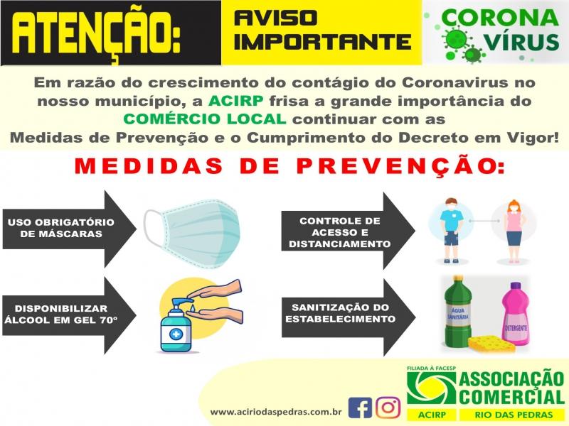 PREVENÇÃO AO CORONAVÍRUS