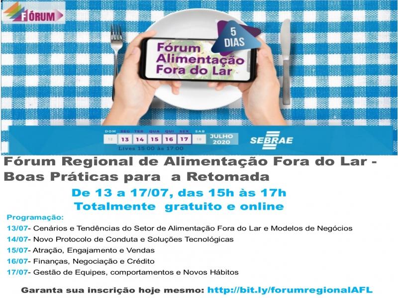 FÓRUM REGIONAL DE ALIMENTAÇÃO FORA DO LAR - BOAS PRÁTICAS PARA A RETOMADA