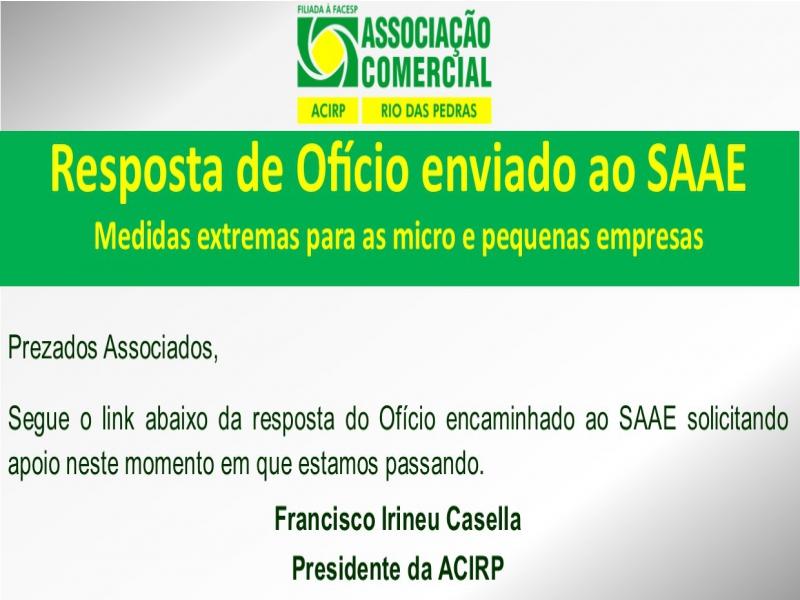 RESPOSTA DE OFÍCIO: SAAE